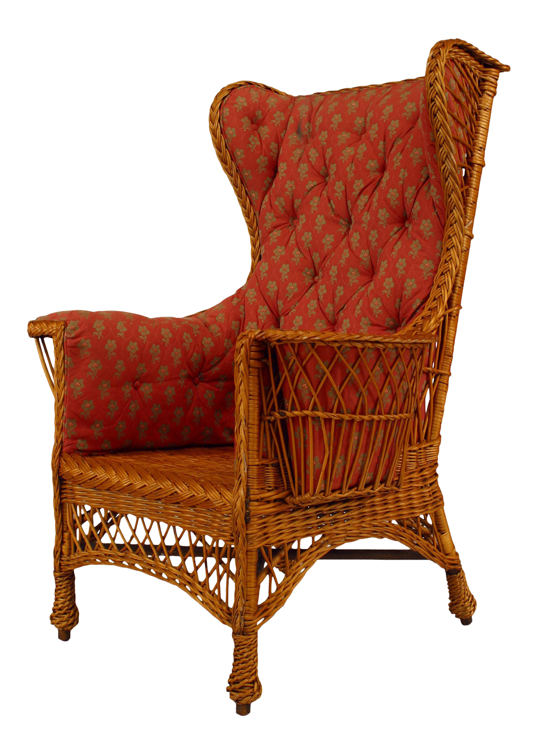American Victorian Wicker Wing Chair In 2020 Wing Chair