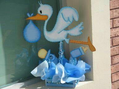Centro de mesa baby shower baby shower pinterest - Mesa de baby shower nino ...