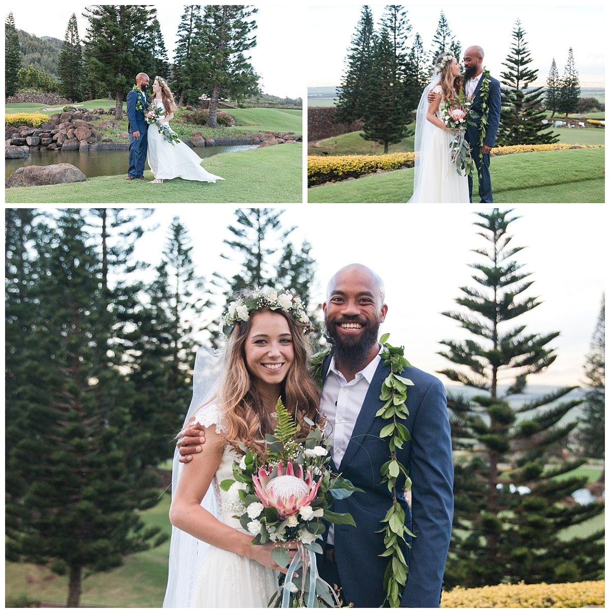 Waikiki Beach Wedding Ceremony: The Detail Ceremony Shots. Including A Homemade Haku Lei