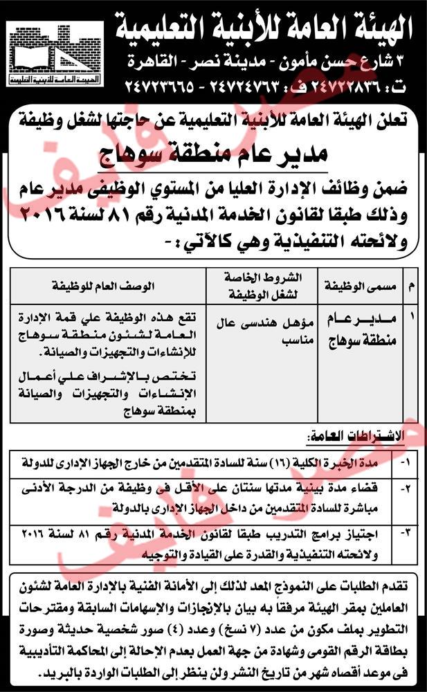 وظائف جريدة الأهرام اليوم الأربعاء 10 4 2019