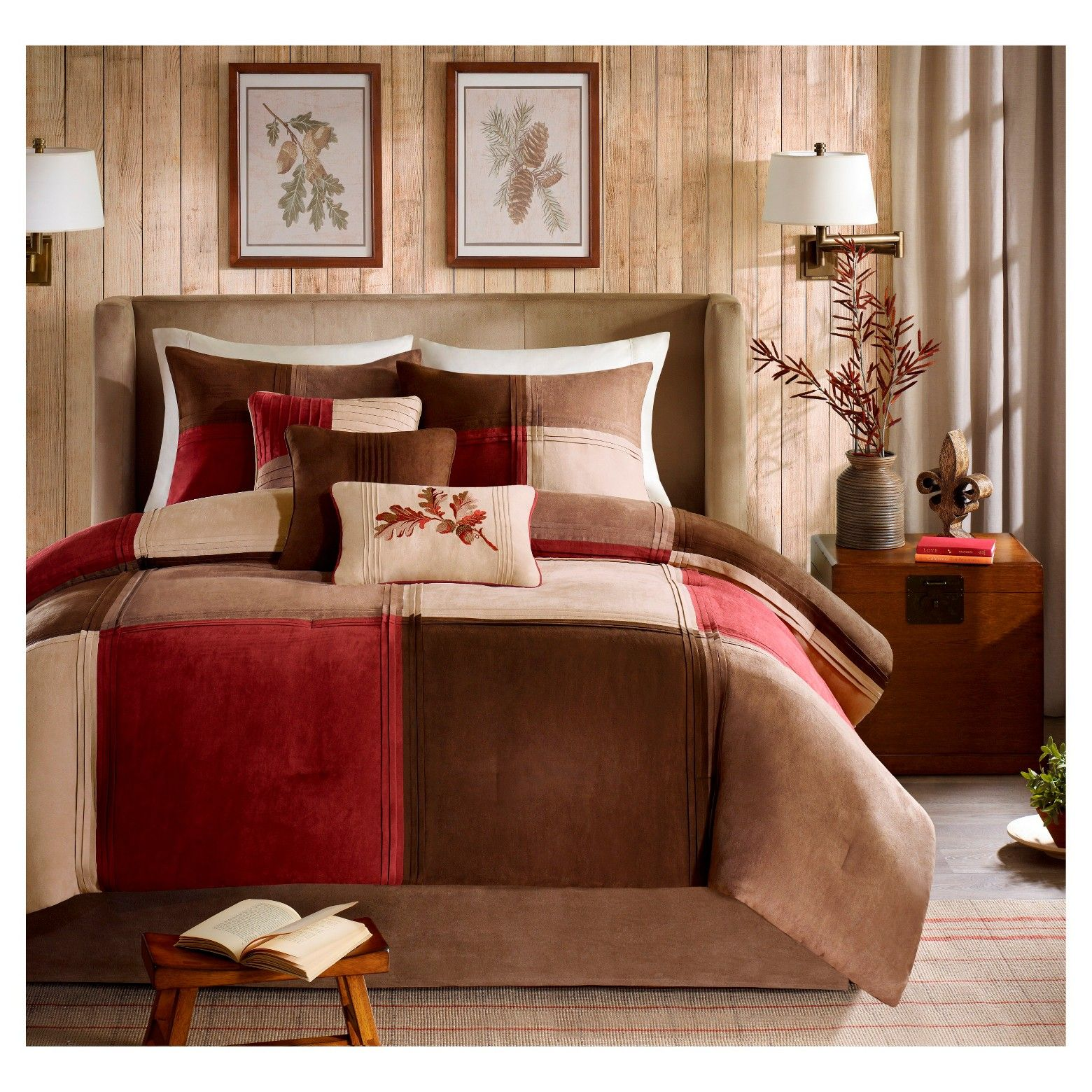 Warren 7 Piece Microsuede Comforter Set Comforter Sets Bed Comforter Sets Comfortable Bedroom