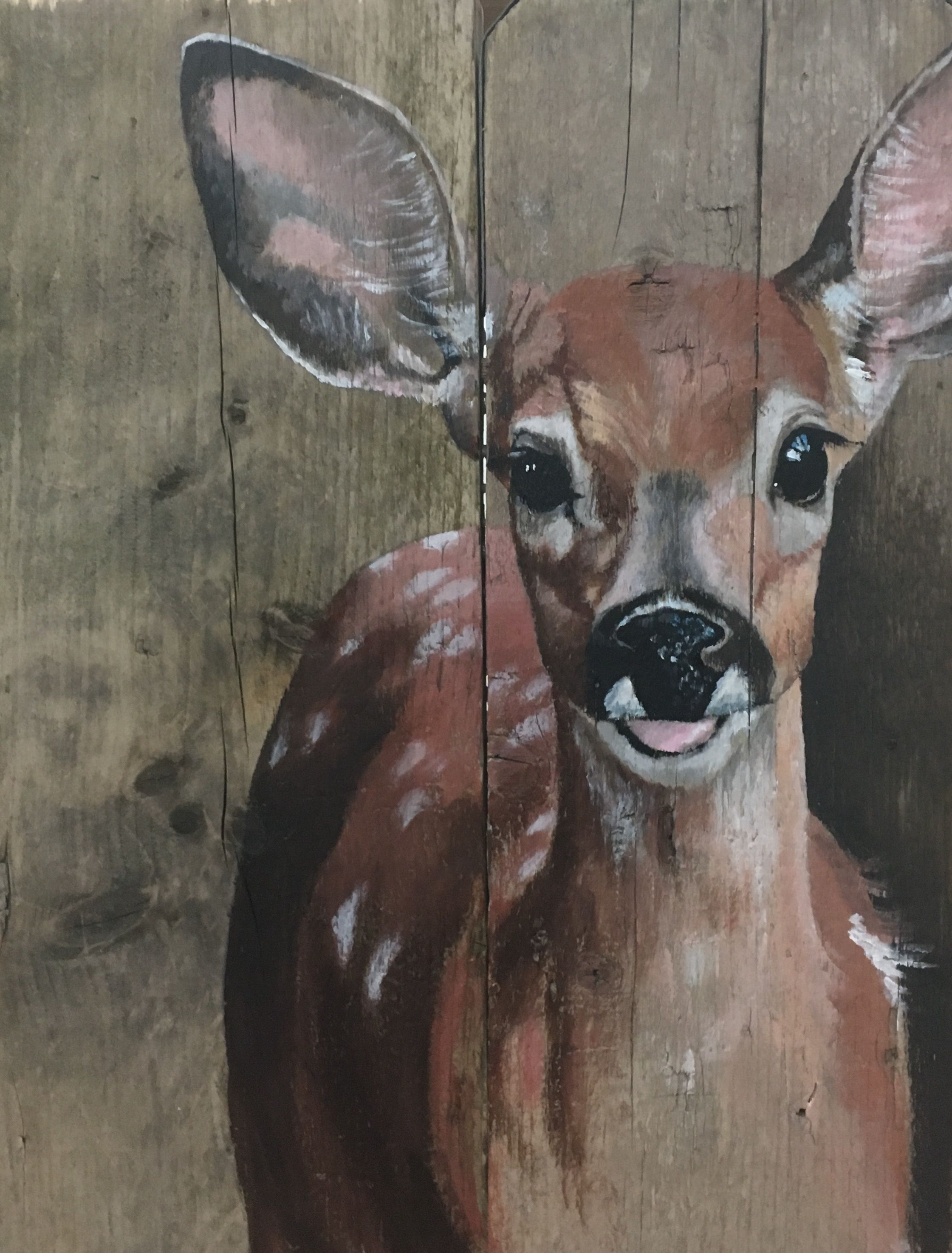 Verbazingwekkend Acryl op steigerhout (met afbeeldingen) | Dierlijke schilderijen UF-37