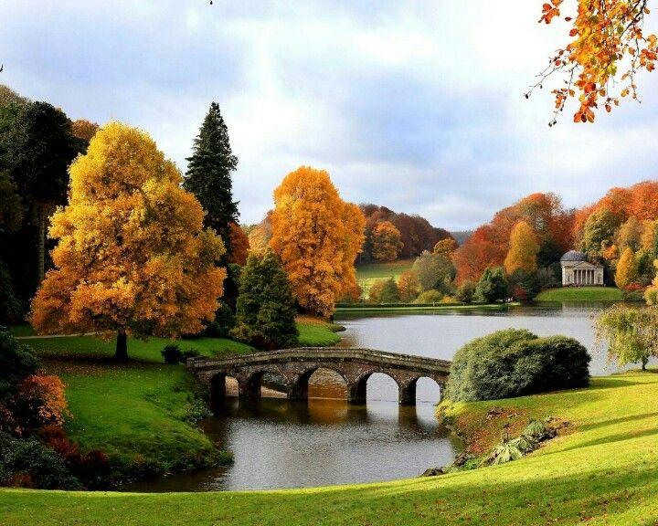 Stourhead Autumn Landscape Beautiful Landscapes England