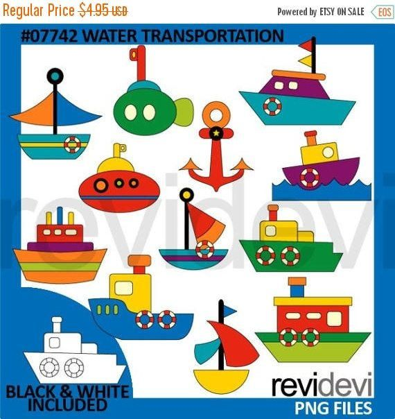 30 Off Sale Boats And Ships Clipart Water By Revidevi On Etsy Kids Workshop Clip Art Felt Diy