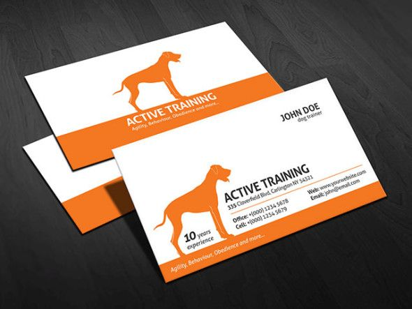 Dog Trainer Business Card Template Free Download Pa00004 Free Business Card Templates Business Card Template Design Free Business Card Design Templates