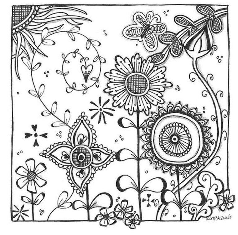Flower Doodles - Doodle Coloring Pages | Zentangles ...