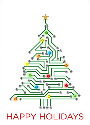 Electrical Engineering Christmas Tree (Glossy White) #2133 ...