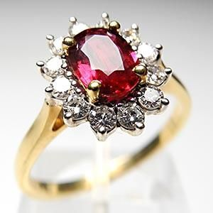 Vintage Ruby Diamond Engagement Ring Solid 18k Gold But With A Silver Band Me No Like Antique Engagement Rings Ruby Engagement Ring Ruby Engagement Ring Set