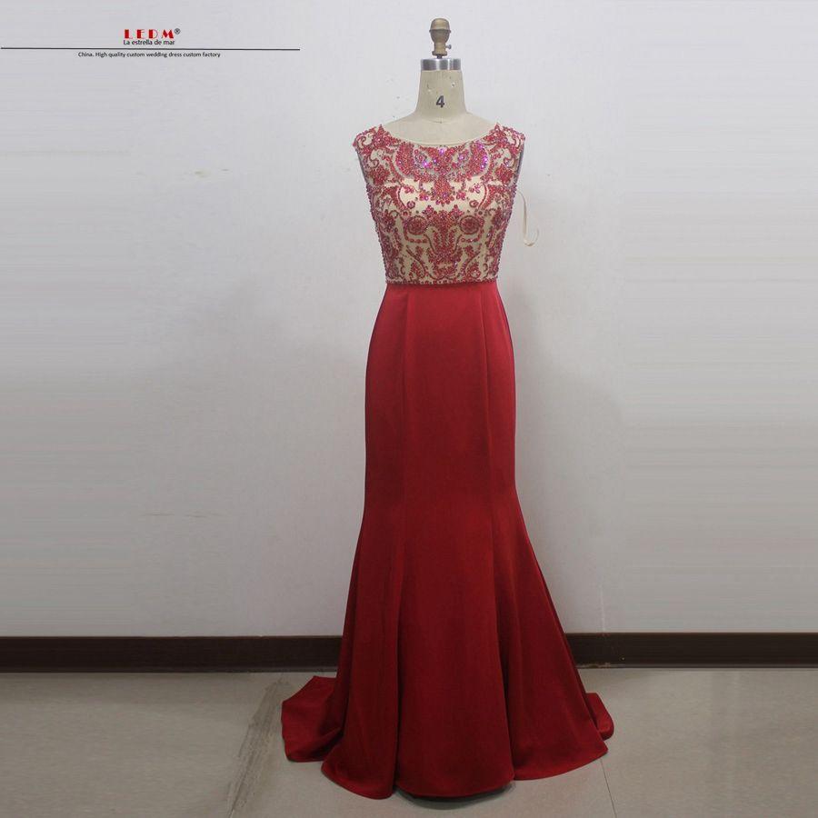 Click to buy ucuc vestido formatura new lace crystal sexy mermaid