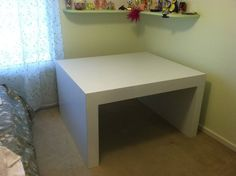 Corner Parsons Table For Twin Bed