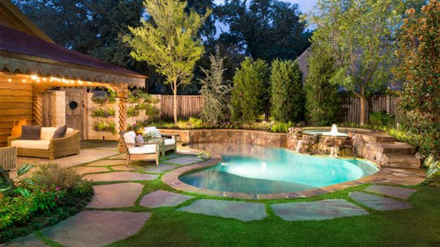 25 Ideas For Decorating Backyard Pools Small Backyard Pools Small Pool Design Backyard Pool