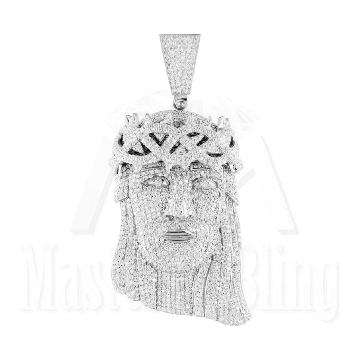 Jesus pendant with iced out miami cuban chain pinterest