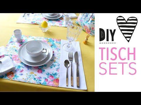 Einfache Tischsets nähen #tischsetnähen