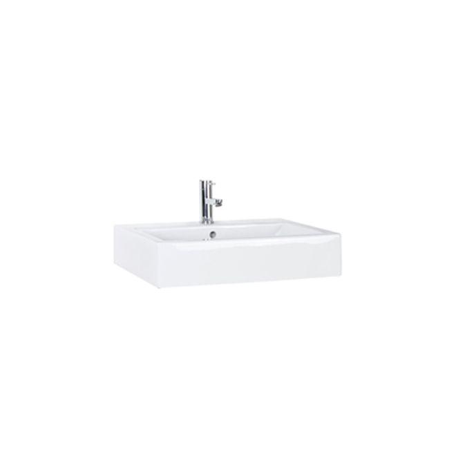 Lavabo, Vasque Rectangulaire En Porcelaine Vitrifiée, Blanc