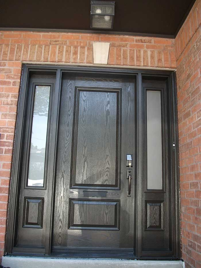 Front Door With Side Panel Glass Google Search