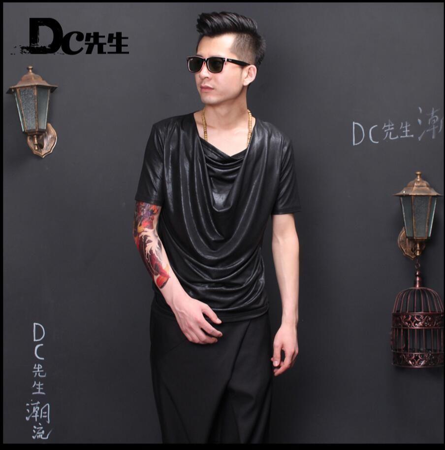 Click to buy ucuc hot korean men slim shortsleeved shirt nightclub