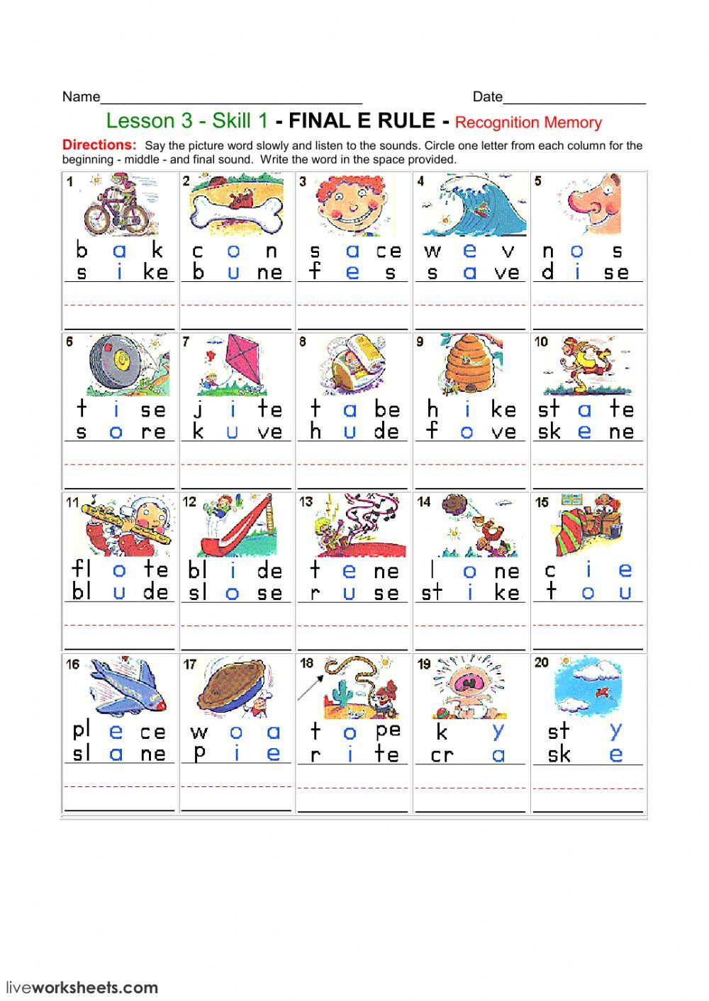 Phonics Interactive And Downloadable Worksheet You Can Do The Exercises Online Or Download The Worksh Equivalent Expressions Worksheets Educational Worksheets