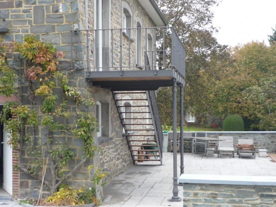 Terrasses Terrasse métallique sur pilotis avec poteaux fonte et - terrasse sur pilotis metal