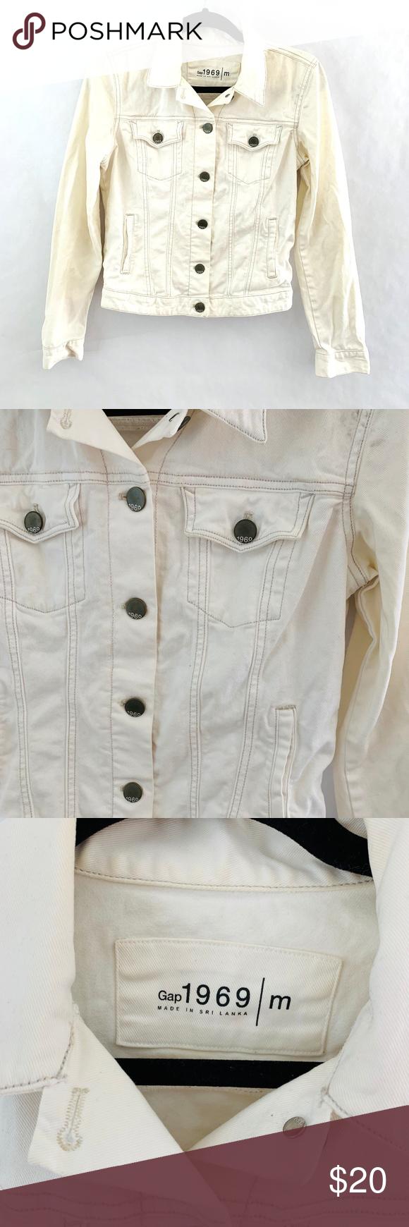 Gap 1969 White Denim Jean Jacket Button Front Gap 1969 White Denim Jean Jacket Button Front Size M Cropped This J White Denim Jeans White Denim Jacket Buttons [ 1740 x 580 Pixel ]