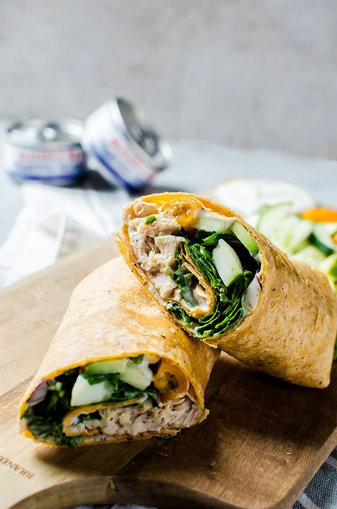 Mouth watering, kid-approved Greek tuna wraps that you will want to make for lunch every week!