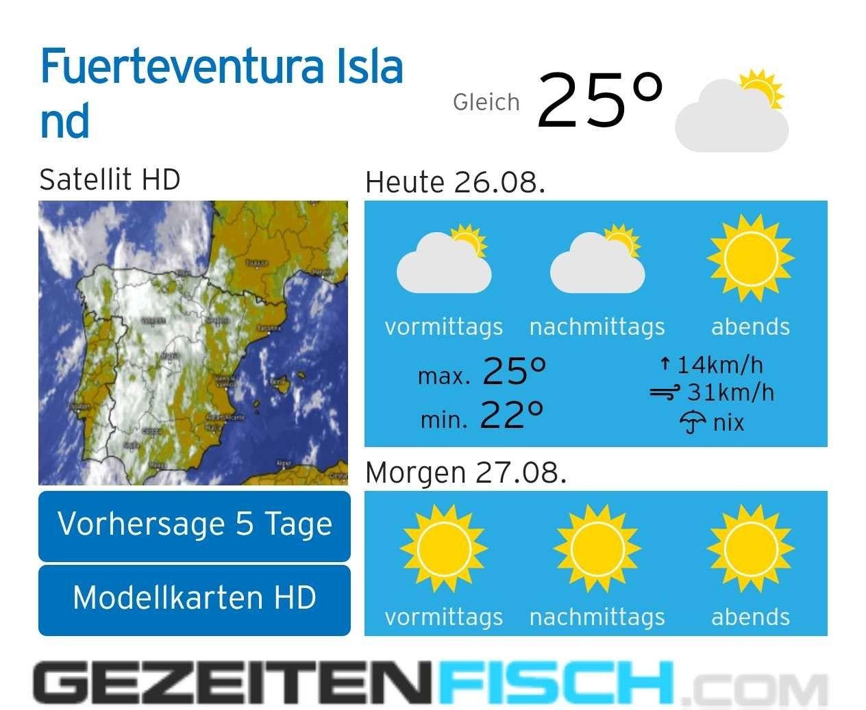 Wetter Und Gezeiten Auf Fuerteventura Https Www Fuerte Service