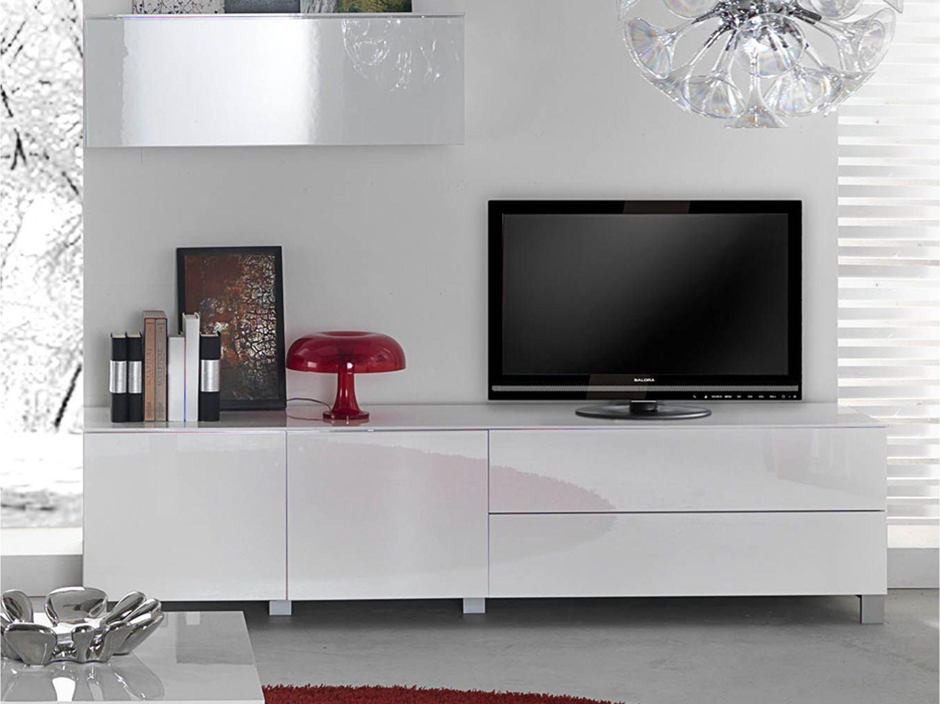 Topdecomeuble Meuble Tv Moderne Meuble Tv Moderne Laqu  # Meuble Tv Chene Clair Et Blanc