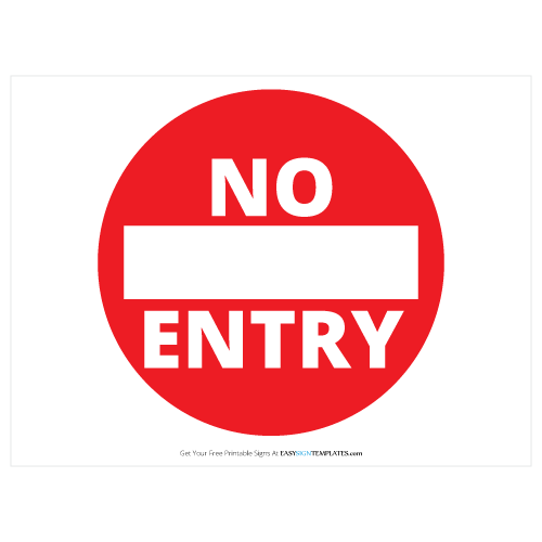 graphic about Free Sign Templates titled No Access Free of charge Printable Indication Template No cost Printable Indicator