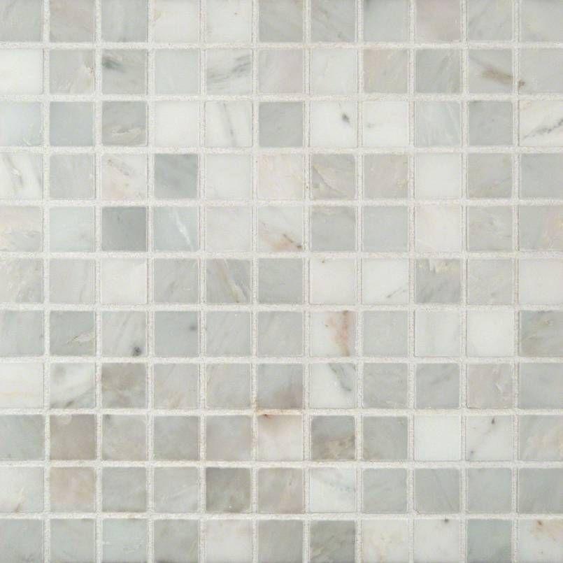 Smot Ara 1x1 H Arabescato Carrara 1x1 Mini Square Honed In 12x12 Mesh Marble Mosaic Budget Naturalstone Classicwhi Marble Square Honed Marble Mosaic Tiles