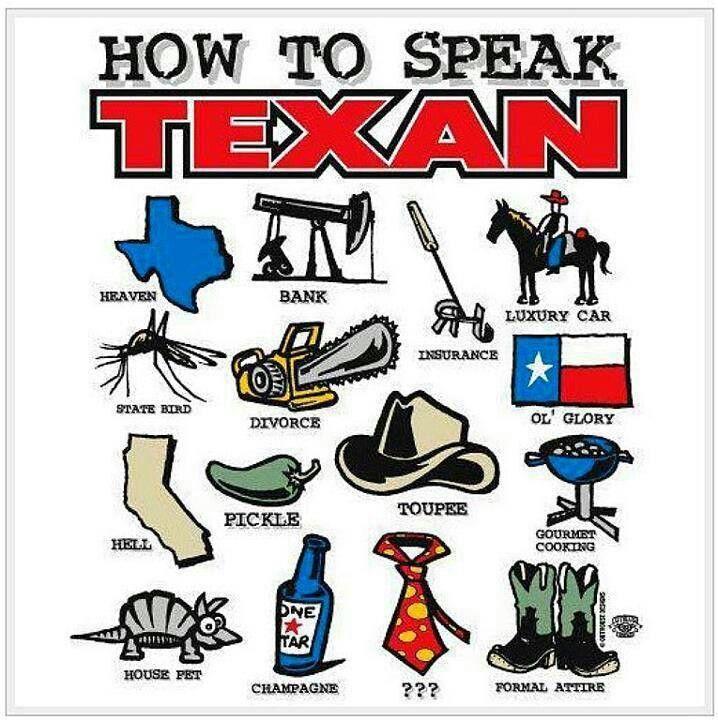 Texan slang   Texas humor, Texans, Only in texas
