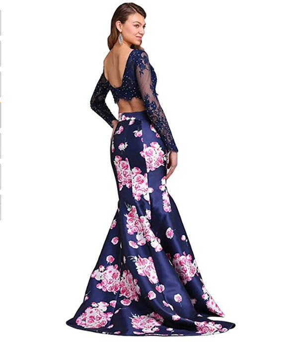 3a48029f1ca Two Piece Prom Dress Long Mermaid Evening Gowns. Find this Pin and more on Plus  Size ...