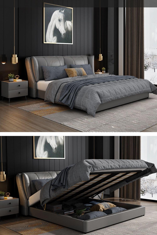 Grey Bed Frame Bedroom Interior Ideas Bedroom Bed Design Bed Design Modern Simple Bedroom Design Bedroom bed simple design