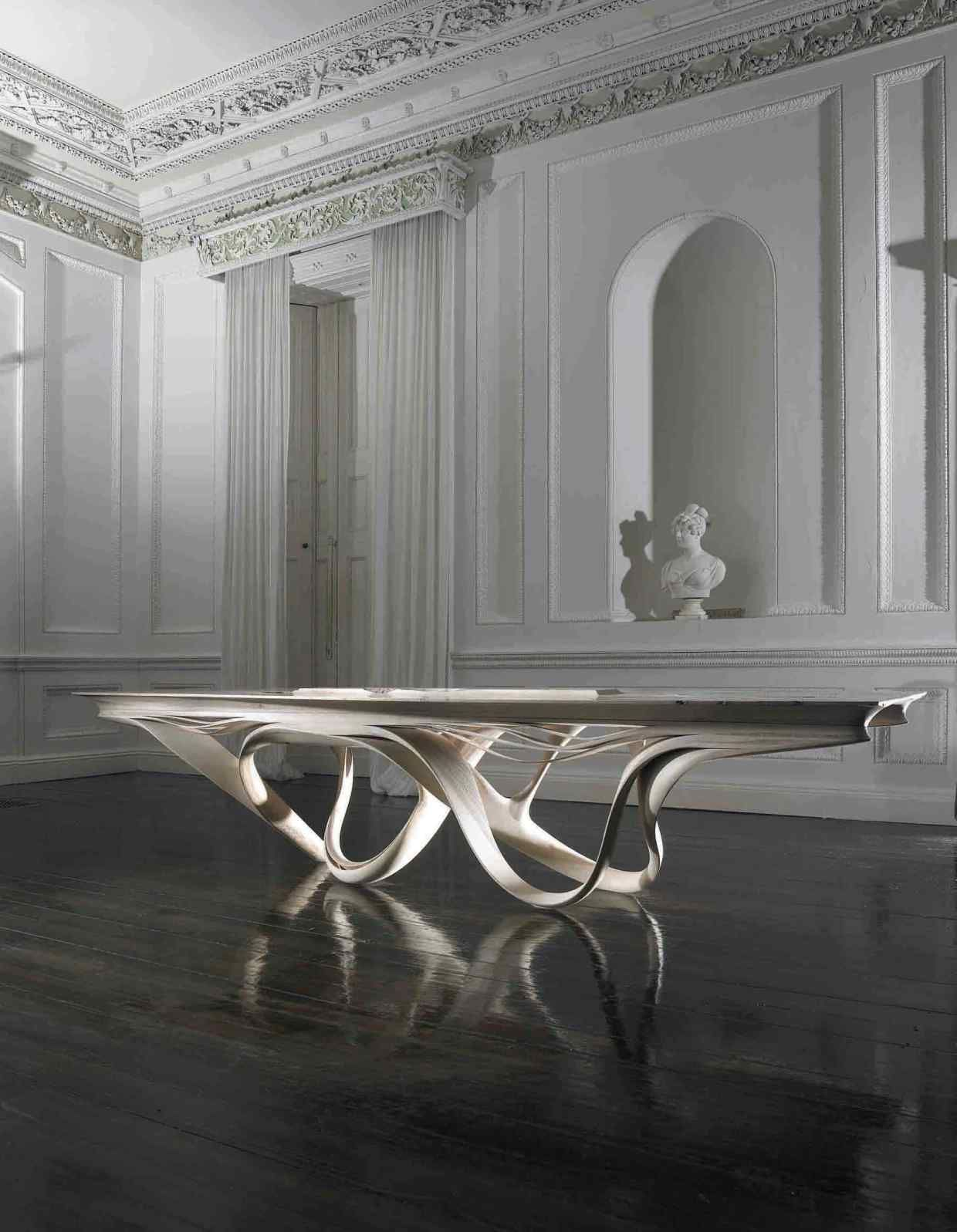 Ahead Of The Curves Curved Furniture Unique Table Design