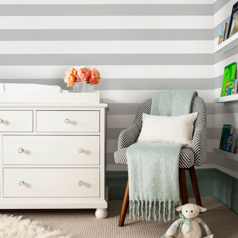 Horizontal Stripe Wallpaper Peel And Stick Striped Wallpaper Horizontal Stripe Traditional Wallpaper