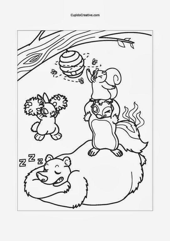 Kerajinan Anak Tk Sd Mewarnai Hewan Kelinci Beruang Tupai