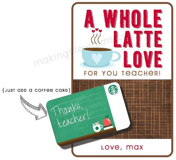 Starbucks Coffee Latte Gift Card Personalized Printable ...