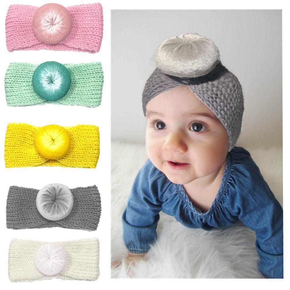 UK New Fashion Dot Cross Children Weave Headband  Baby Hair Accessories