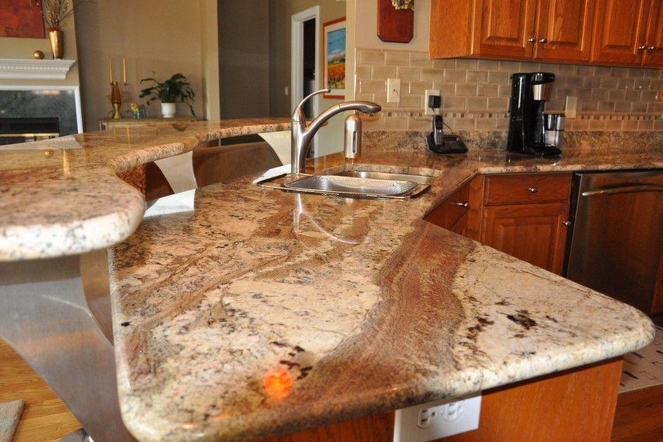 Typhoon Bordeaux Backsplash Ideas Part - 17: Excellent Typhoon Bordeaux Granite Countertops Wooden Kitchen Cabinet Gray  Tiles Backsplash Coffee Maker