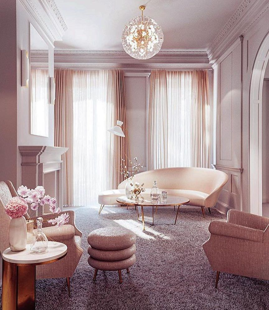 Blush And Gold Dressing Room Of Our Dreams Dressing Room Ideas Pink Decor Pink Aesthetic Blush De Perfect Living Room Pink Interiors Design Dream Decor