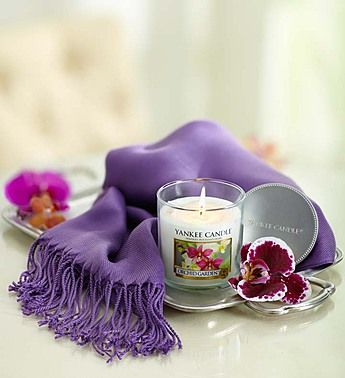 Wrap your mom in love with this colorful yet simple to make silk scarf !! Orchid Yankee Candle® with Pashmina Scarf : Mother's Day Special Get this now @ goo.gl/TKZWka