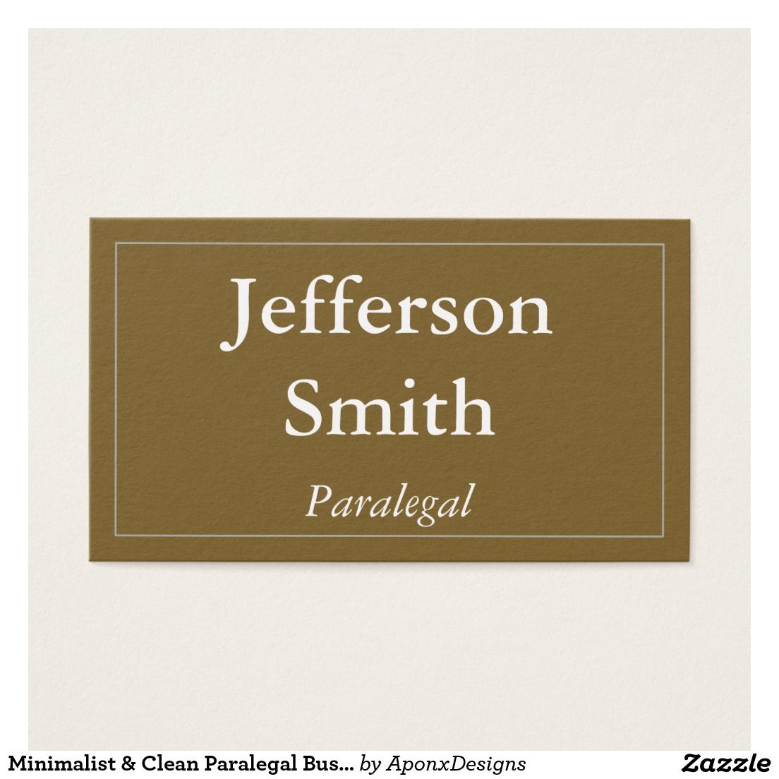 Minimalist & Clean Paralegal Business Card   Customizable Business ...