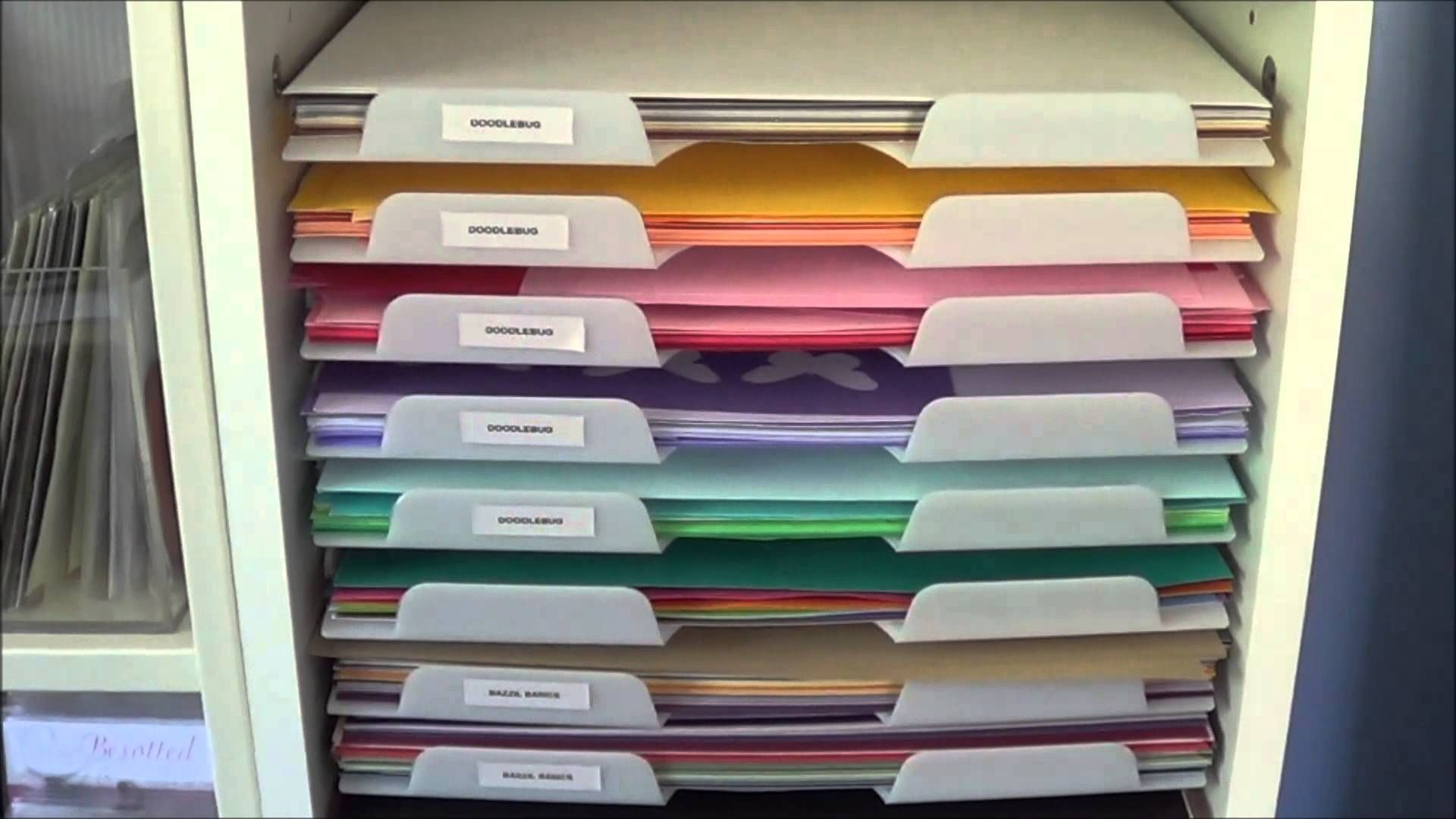 How I Store 12x12 Cardstock Paper The Card Grotto Scrapbook Paper Storage Scrapbook Storage Paper Storage