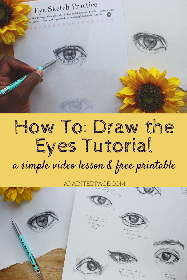 How to draw eyes tutorial join me and learn how to draw the eyes