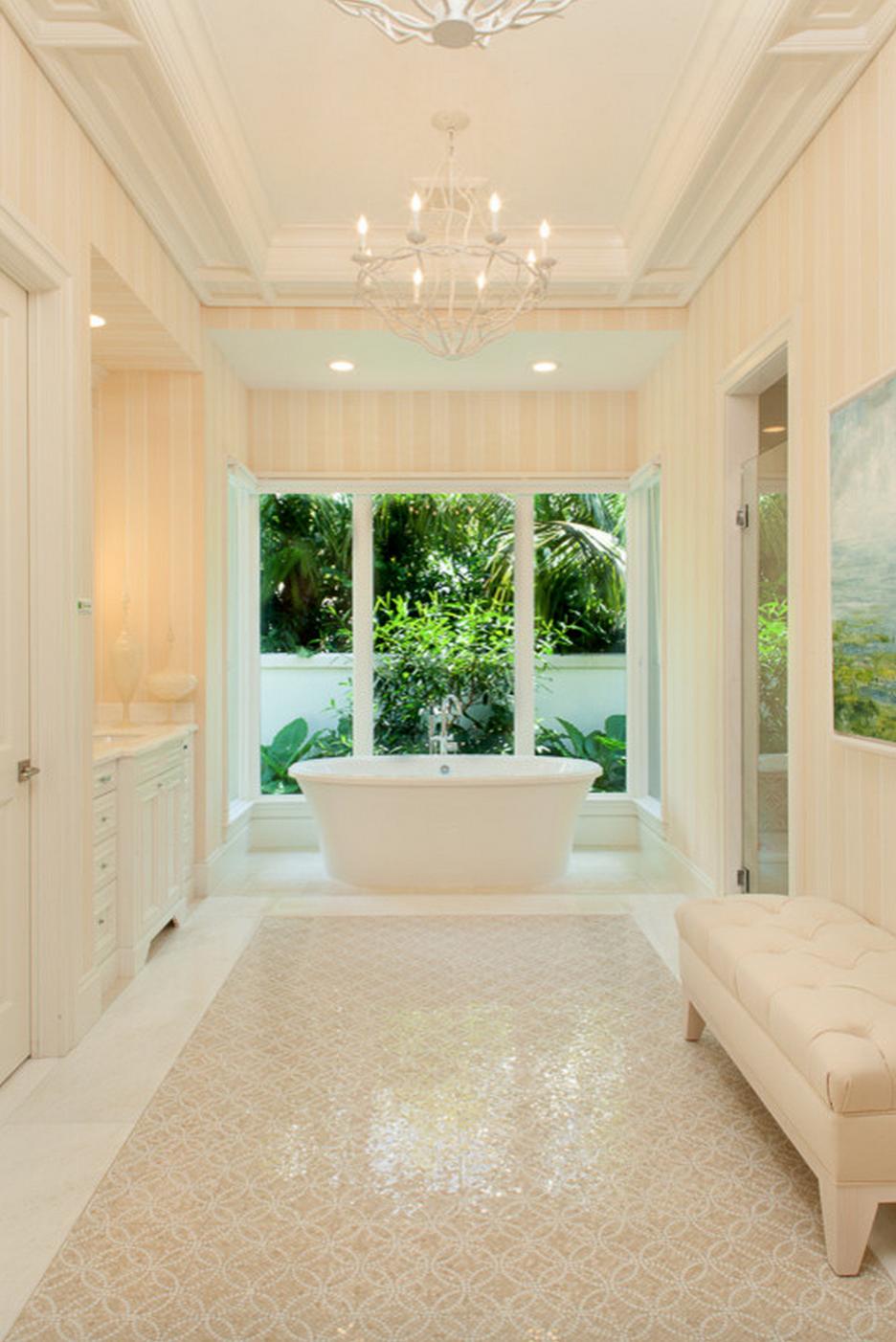 Elegant and luminous bathroom featuring our Balneo Sanos ...