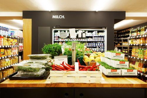 Vier Jahreszeiten The Organics Food Shop Design Food Store Design Food Shop Design Retail Design Store Design Organic Food Shop Organic Recipes Food Shop