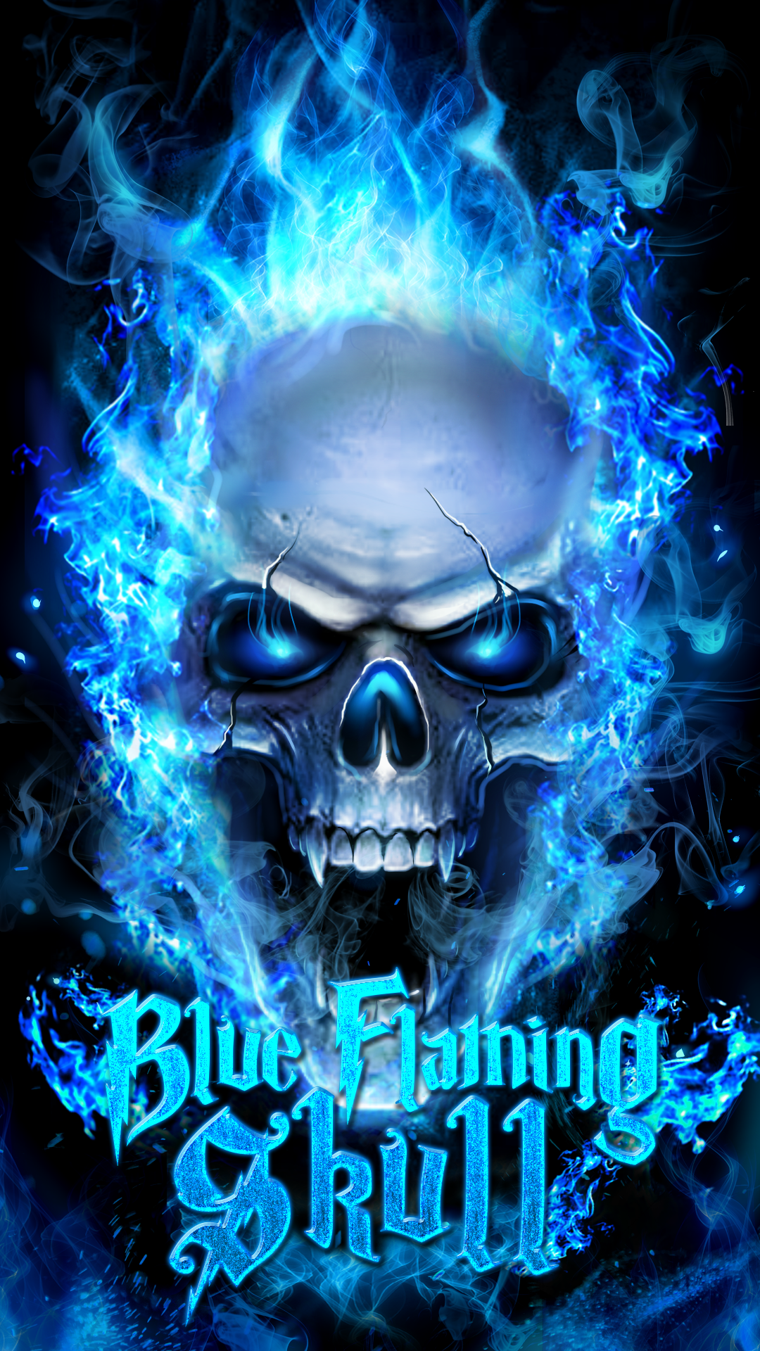 Blue flaming skull live wallpaper! Skull wallpaper