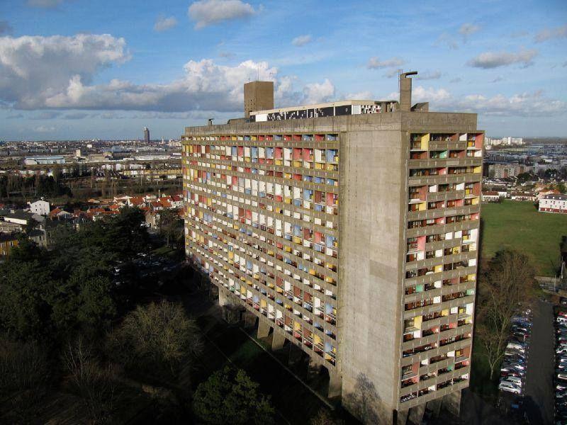 Fabulous The Unité d'Habitation in Rezé, a suburb of Nantes in western  NV01