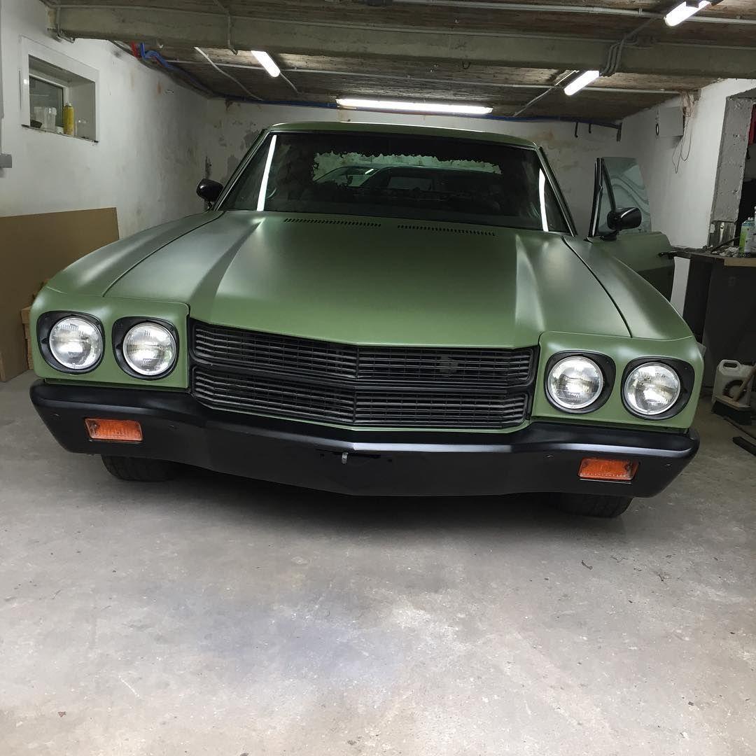 70 chevelle army green, black bumper. | Chevelle Non-Stock and Pro ...