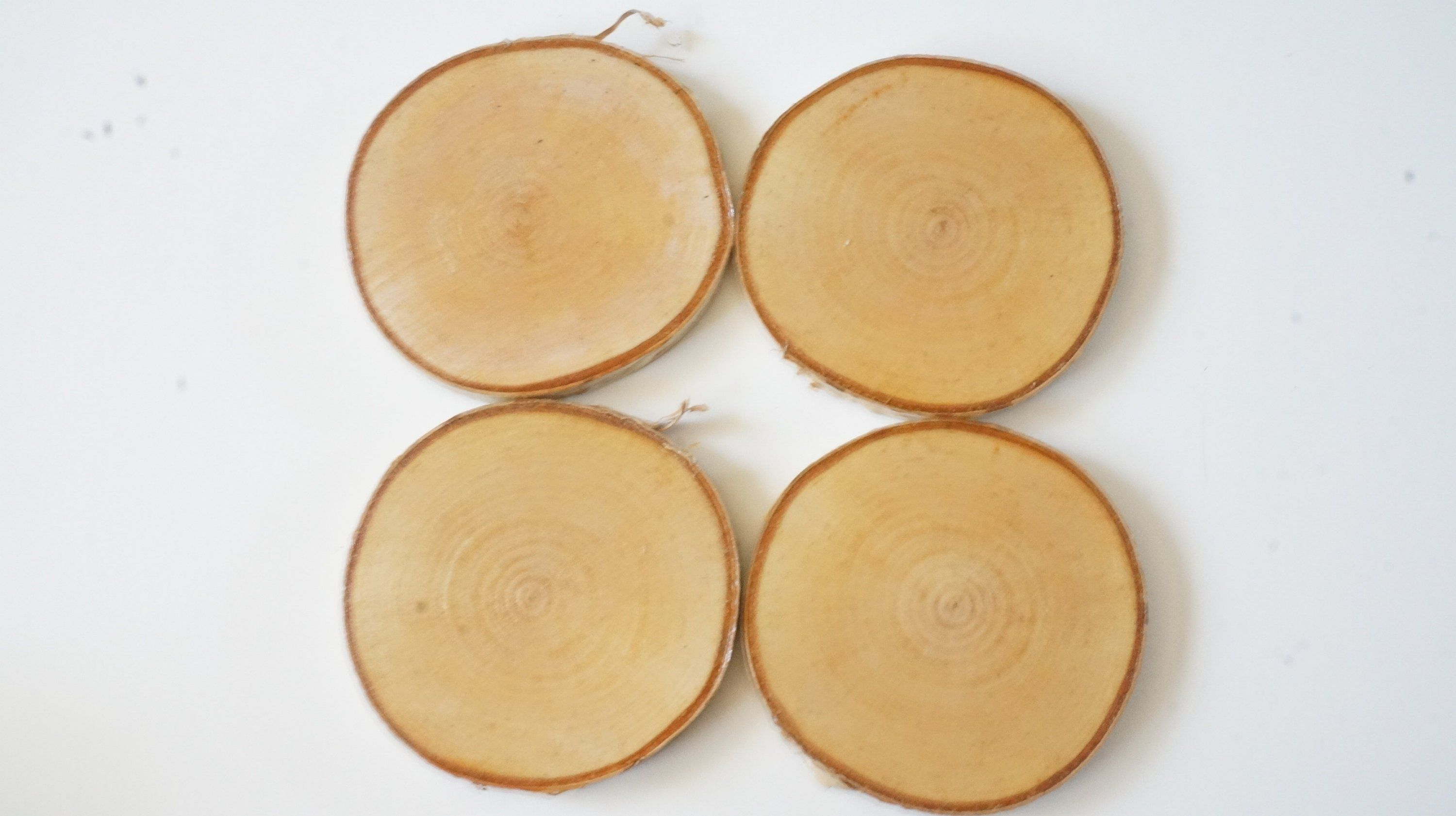 Birch And Cherry Wood Slice Drink Coasters Mixed Set Of 6 Coffee Lover Gift Farmhouse Decor 5th Anniversary Gift Coffee Lover Gifts Wood Slices Valentines Gifts For Him