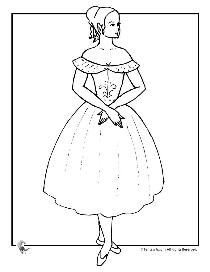 Ballet Dancer Coloring Pages 9