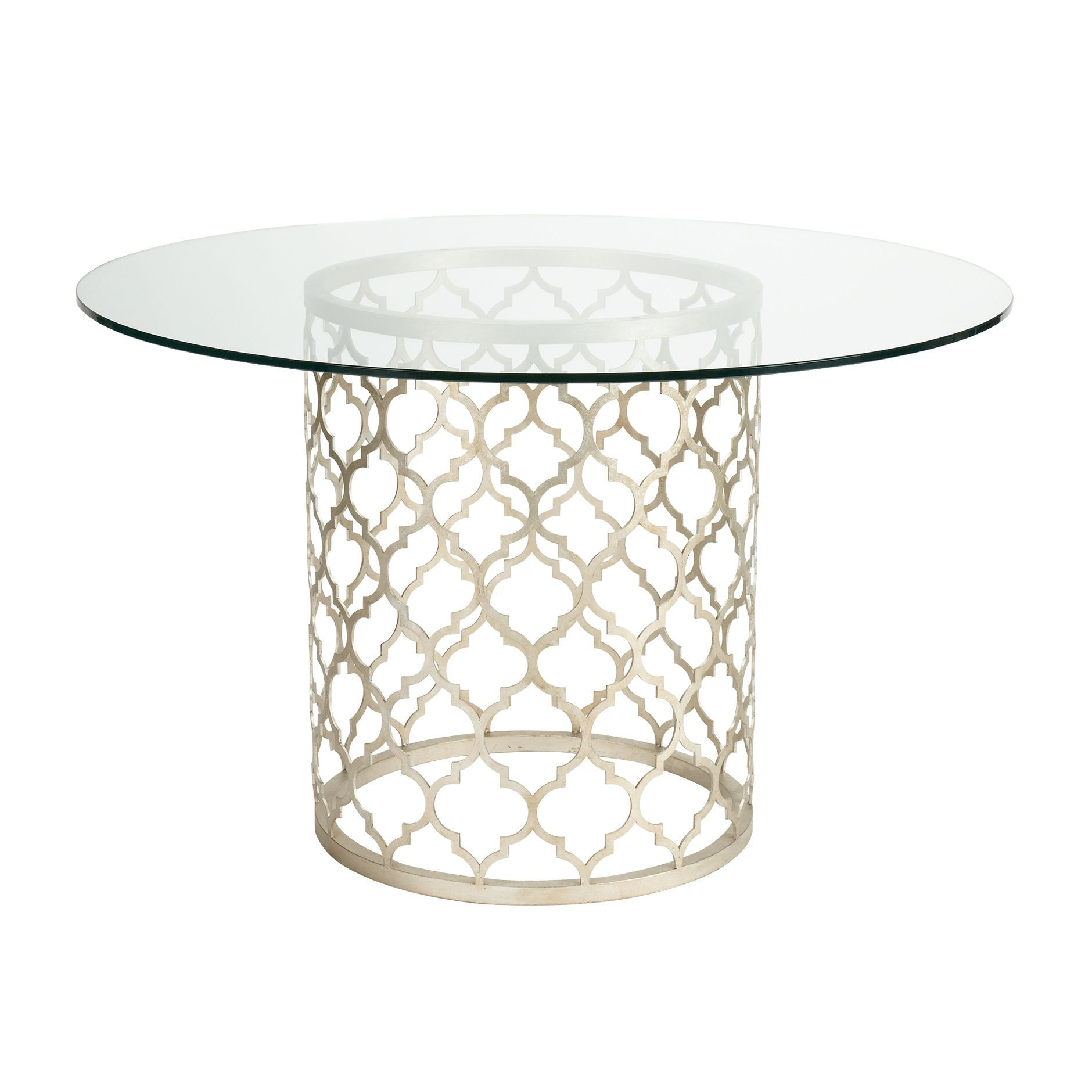 round glass kitchen tables ikea table set tracery dining ethan allen us